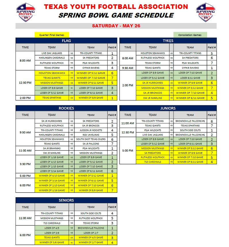 graphic relating to Printable Bowl Schedule titled printable bowl timetable -